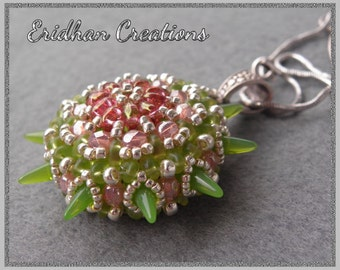 "Beaded pendant ""Sea Urchin"" - tutorial"