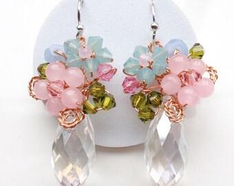 Pastel earrings , Bridesmaid earrings , maid of honor jewellery , women earrings , pastel earrings , pastel jewellery