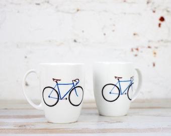 Racing Bike China Mug
