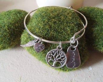 Strength Adjustable Wire Bangle Charm Bracelet, Handmade Jewelry, Charm Bracelet, Wire Bracelet