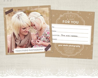 Gift Certificate Template for Photographers - GC04