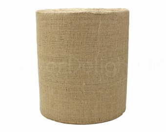"100 Yards - 12"" Natural Burlap Roll - Industrial Grade - Unfinished Edges - Eco-Friendly Natural Jute Burlap Fabric - Tight Weave - 12 Inch"