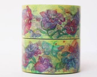 Design Washi tape flower Purple masking tape