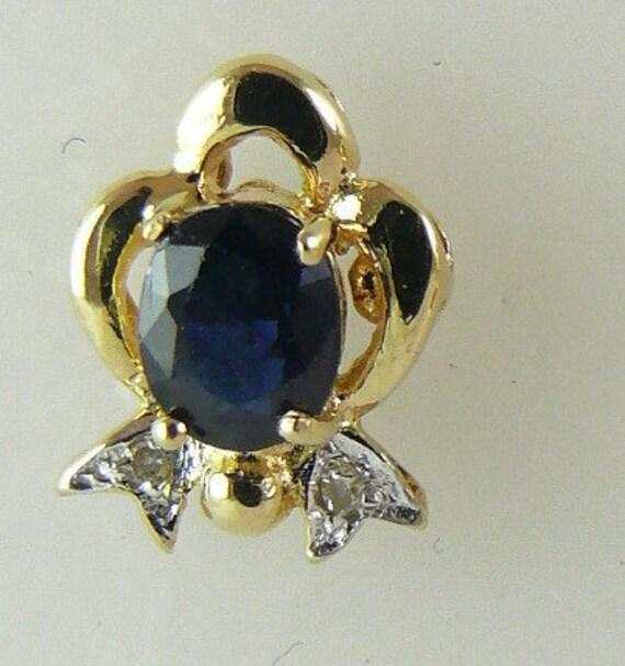 Sapphire 0.90ct Earring 5x4mm 14k Yellow Gold