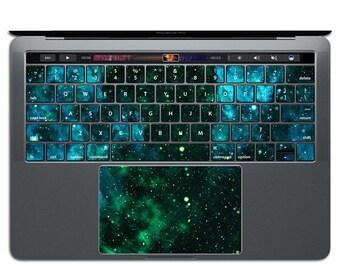 Green MacBook Keyboard Space MacBook Decal Star MacBook Sticker Galaxy MacBook Skin MacBook Pro MacBook Air 13 Keys Key Decals Nebula MS 015