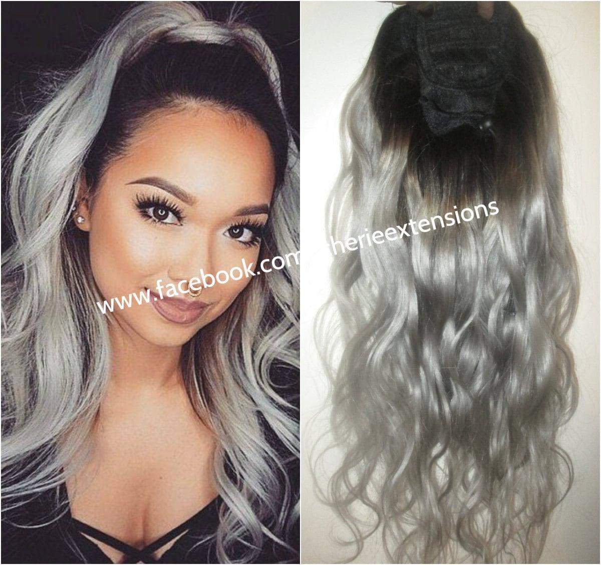 Balayage dip dye 8a remy human hair drawstring ponytail hair zoom pmusecretfo Image collections