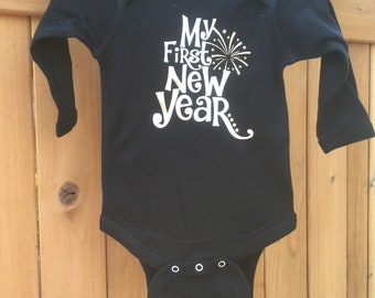 First New Years onesie