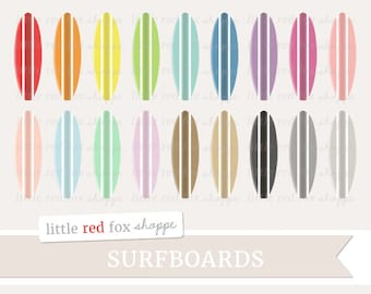 Surfboard Clipart, Beach Clip Art, Surfing Clipart, Surf Clipart, Summer Clipart, Icon Cute Digital Graphic Design Small Commercial Use