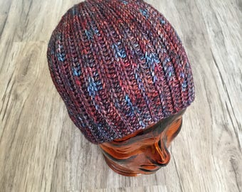 Mens 100% merino fitted beanie--READY TO SHIP