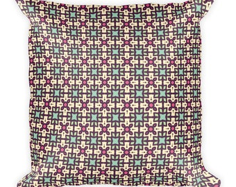 Pattern,Square Pillow, Cover with stuffing, USA, Printful