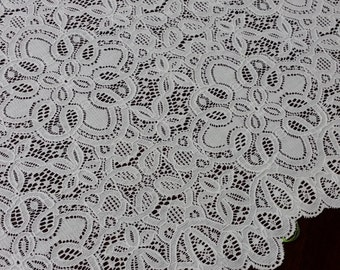 Ivory lace fabric by the yard, France Lace, Embroidery lace, Wedding Lace Bridal lace White Lace Veil lace Lingerie Lace Alencon Lace L80082