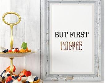 Coffee Print A4