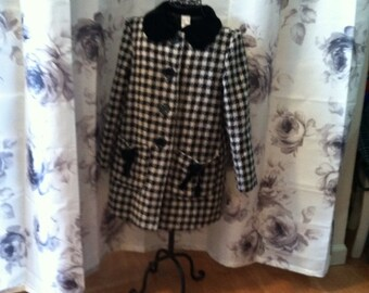 Girls hounds  tooth coat
