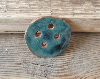 Ceramic button handmade