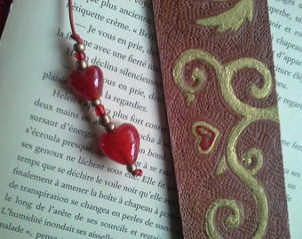 """Bookmark leather """"with you"""""""