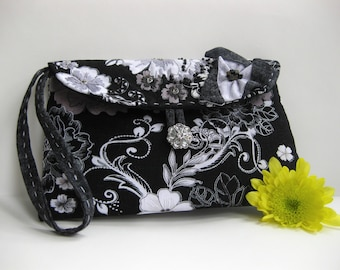 Handmade Embroidered and Beaded Medium Clutch #42