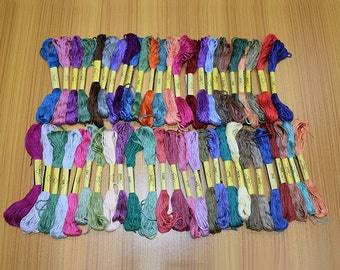 50 Pcs Multi Color Cotton Embroidery Floss