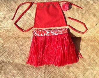 Baby Moana Authentic Grass Skirt Set.