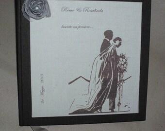 Handmade Wedding Guest book customizable Wedding Date and names