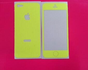 Bright Neon Yellow iphone 5 Skin
