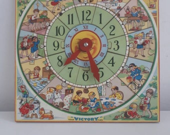 Vintage Victory Picture Puzzle Clock Complete