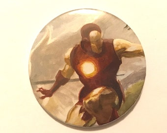 Iron Man Comic Art Badge