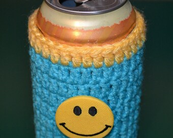 Smiley Face Beer/Soda Cozy