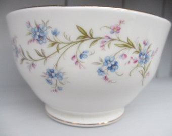 Duchess Tranquility ~ Bone China Sugar Bowl Forget Me Not Floral Blue For-Get-Me-Not