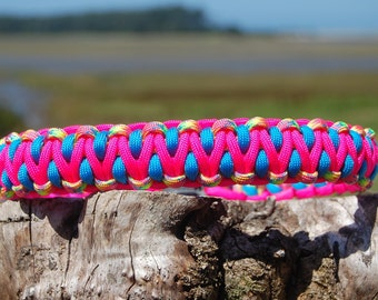 Custom Dragon Paracord Dog Collar, Choose Your Colors & Closure Type, Strong Dog Collar, Sturdy Dog Collar, Cute Dog Collar, Paracord Collar