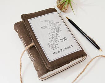 Travel Journal – Cute Journal with New Zealand Map - Great Travel Gift