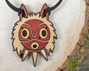 Princess Mononoke Mask Pendant Necklace