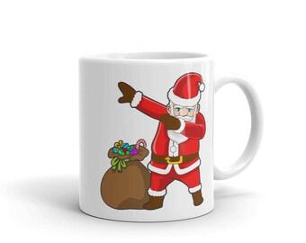 Dabbing Santa Claus Mug - Hip Hop Christmas Dance Mug