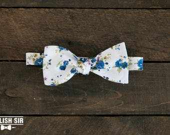 Garden Party Tie Stylish Sir Perfect Gift For Groomsmen Formal Classic Modern Bowtie Self Tie Floral Pattern