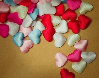 Fabric Heart Applique - 100 pieces #100146