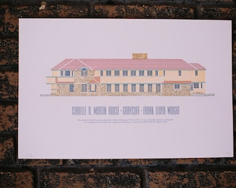 Frank Lloyd Wright's Isabelle R Martin/ Graycliff Architecture Print