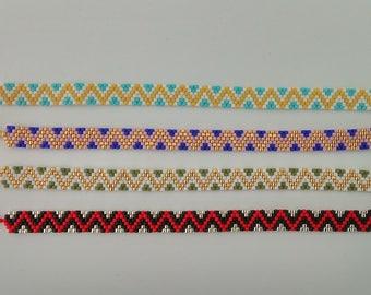 Zig zag pattern miyuki Beads Bracelet