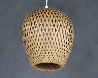 Bamboo lamp shade etsy mozeypictures Images