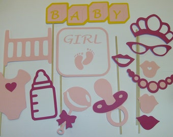DIY Baby Girl Photo Booth Prop Set 14 piece (2077D)