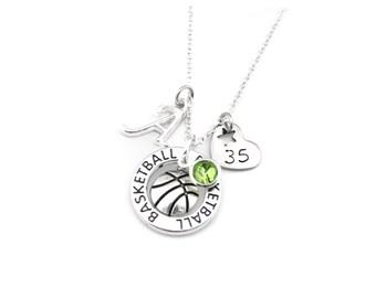 Basketball Necklace, Basketball Gifts, Basketball Jewelry, Basketball Player Gift, Basketball Team Gift, Girls Basketball Gift
