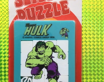 1978 INCREDIBLE HULK Sliding Puzzle! New! Factory Sealed & Never Opened! Rare 1970s Vintage Brain Teaser Toy Retro Great Gift