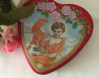Vintage Heart Shaped Valentine's Tin
