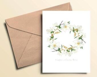 Magnolia Grandiflora Note Cards