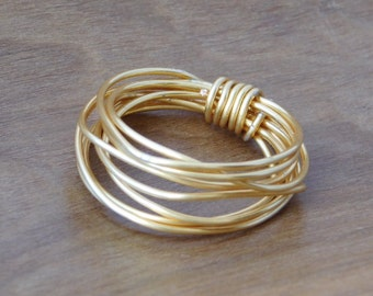 Gold-Filled Wire Wrapped Ring