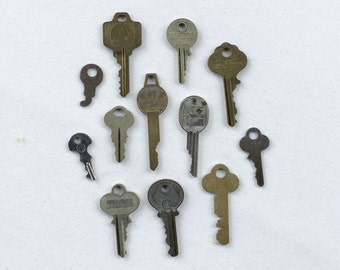 Set of Vintage Metal Keys for assemblage, art, mixed media
