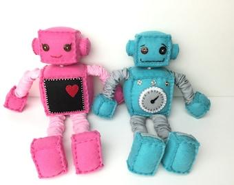 Cute Plush Felt Robot