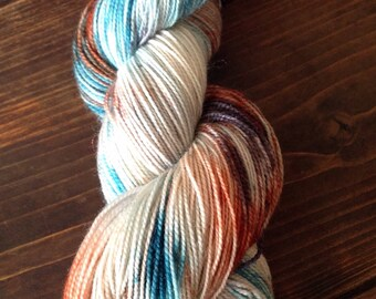 Hand dyed, Sock yarn, Indie dyer, Bluefaced Leicester, 4ply sock yarn, Elements yarn