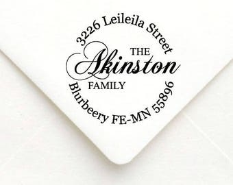 Personalized Self Inking Return Address Stamp - self inking address stamp - Custom Rubber Stamp A12