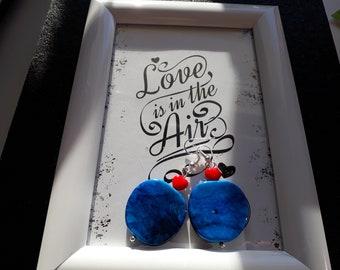 Earrings Blue Apple