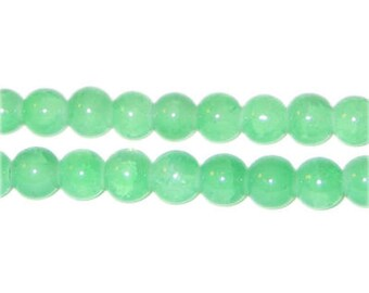 8mm Amazonite-Style Glass Bead, approx. 53 beads