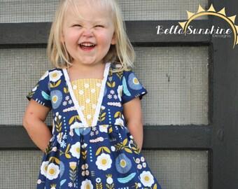 Coffee Shop Lace Dress, PDF Sewing Patterns, vintage twirl dress, sewing pattern, flower girl dress, baby sewing pattern, girls dress pdf